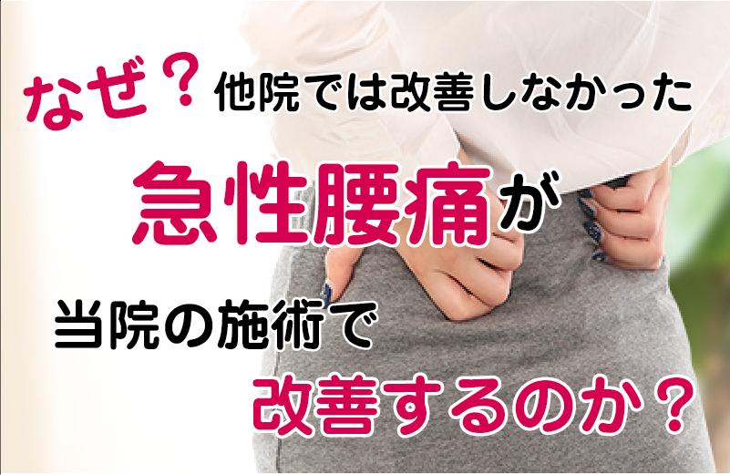 松江市のぎっくり腰専門店